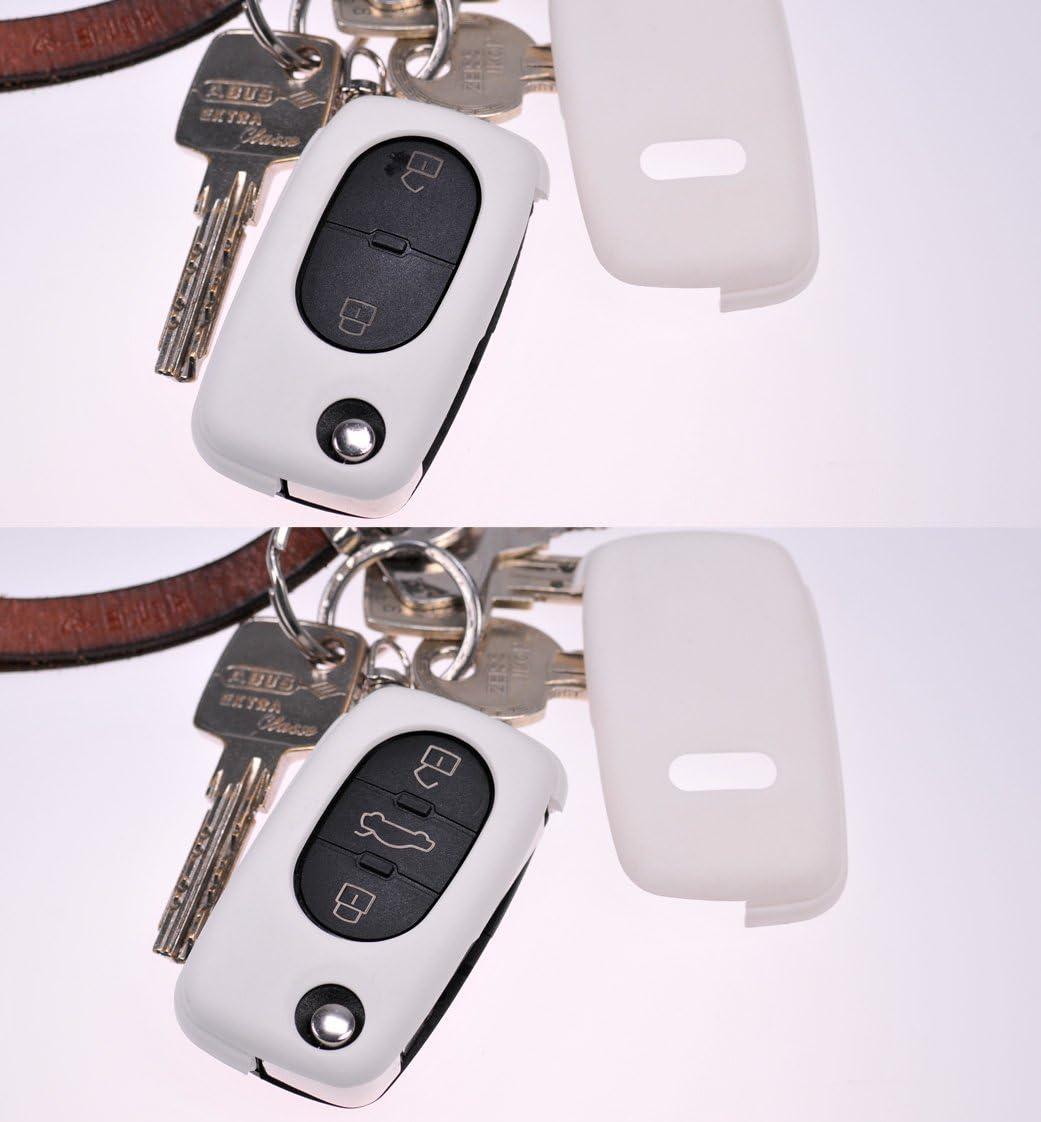 Klapp Schlüssel Hülle Hartschale Cover Gelb Für Audi A4 Elektronik