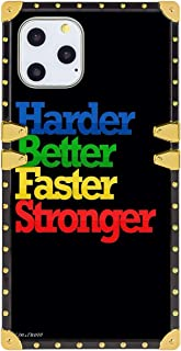 Case for iPhone 11 Pro Quote About Success and Life Harder Better Faster Stronger Full Body Shock Absorption TPU Rubber Bl...