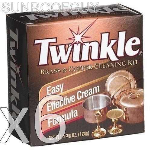 (6) Twinkle Brass/Copper Cleaner/Polish Anti-Tarnish - New