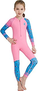 Youth Girls Boys One Piece Water Sports Sun Protection Rash Guard UPF 50+ Long Sleeves Full Suit Swimsuit Wetsuit Swimwear