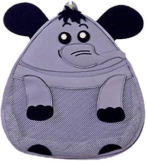 NUOLUX Bath Toy Storage Bag Bathing Toy Storage Organizer with Strong Hooks (Elephant)