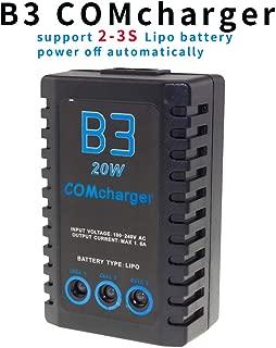 SoloGood B3 Charger 20W 11.1V 1.6A Lipo Battery Balance Charger for 2S- 3S Lipo Battery US Plug