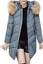 YKARITIANNA Women Faux Fur Hoody Quilted Coats, Comfy Outwear Warm Coat Long Down Jackets & Parkas Collar Cotton Slim Jacket