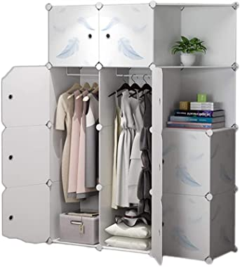 fhw Armoire Wardrobe Closet Portable Closet Closets for Bedroom Clothes Closet Storage Closet Hanging Clothes Organizer with