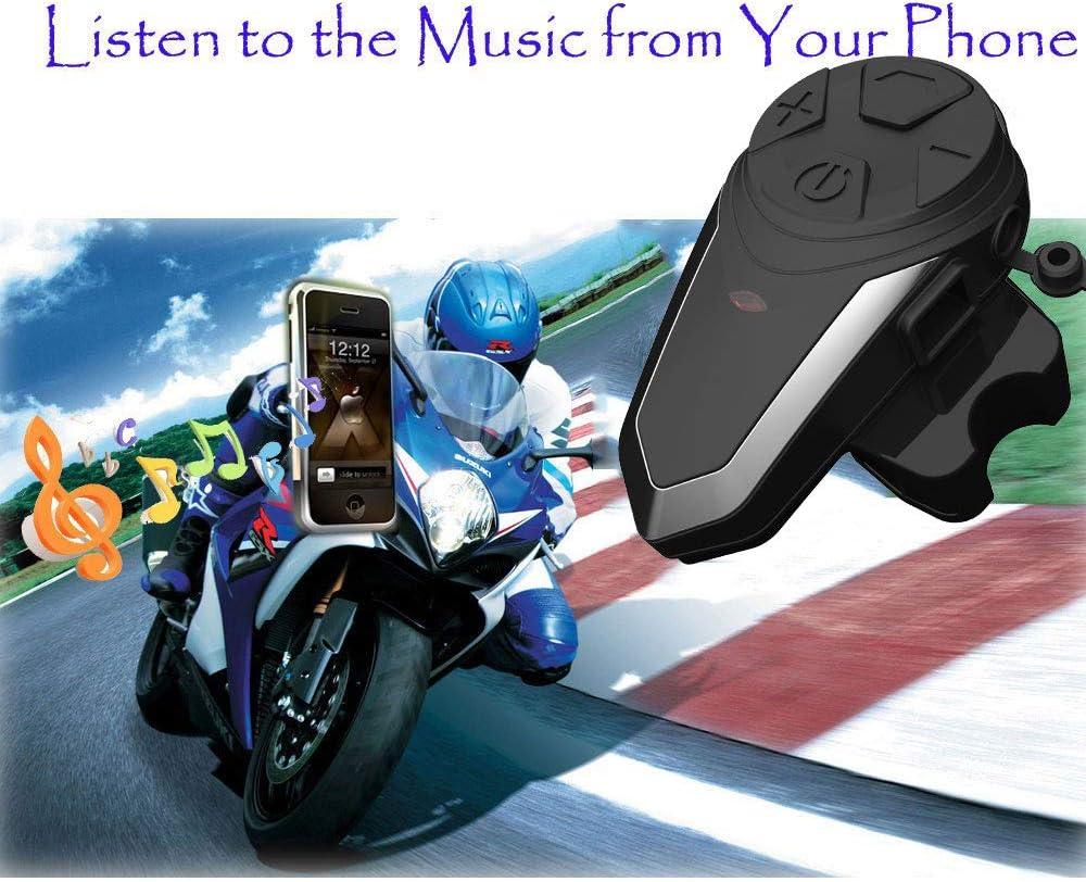 FM Radio//Waterproof//Handsfree//Range-1000M Motorcycle Bluetooth Intercom Communication System BT-S3 Interphone Moto Helmet Bluetooth Headset Wireless Intercom Headset