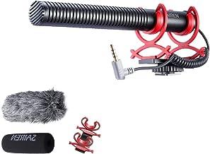 SAIREN Q3 Shotgun Microphone, Hyper Cardioid Directional Condenser Mic with DSLR Connector, Professional Video Audio Recor...