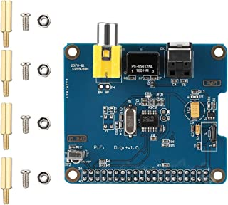 Cosiki Sound Expansion Card HiFi DiGi+ Digital Sound Card Expansion Board for Raspberry Pi 3/2 Generation
