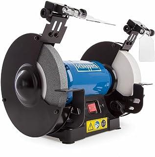 Scheppach 5903110901 dubbel slipmaskin SM200AL, mångsidig slipmaskin med enkel och skära skiva, LED-arbetslampor, justerba...