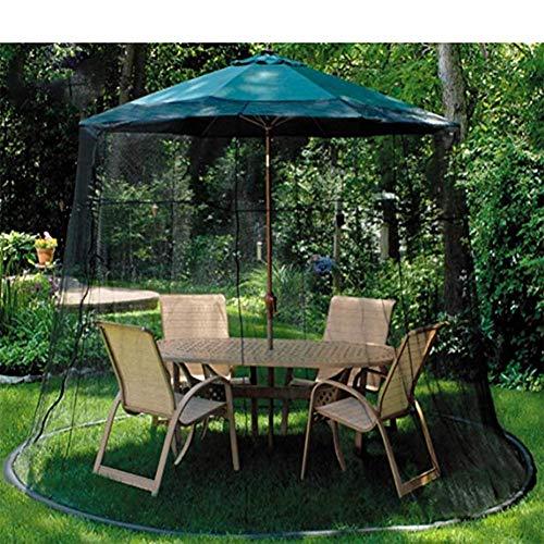 SWEET Moustiquaire d'extérieur, moustiquaire, moustiquaire, écran de Table, Noir, adapté aux gazebos Parasols Garden Net