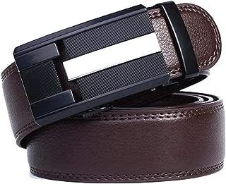 Men's Belt Automatic Buckle Business Belt Casual Dress Belt (Color : Brown, Size : 125cm)