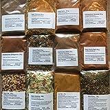 Bami Goreng, Nasi Goreng ,Thai Curry, Curry Pirat 12 Teiliges Asia Gewürz Set