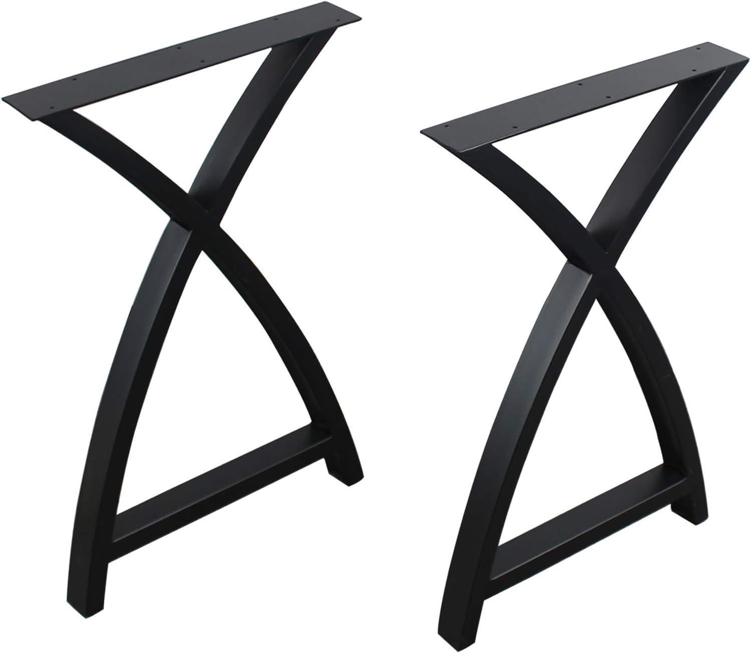 MBQQ 2 Pcs Furniture Legs Rustic Decory Arc Triangle supreme Table Daily bargain sale Shape