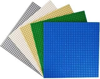 (sabata) 基礎板 ブロック プレート 32×32 ポッチ 5色セット 25.5×25.5cm ( ブルー グリーン アイボリー ホワイト グレー ブラック )