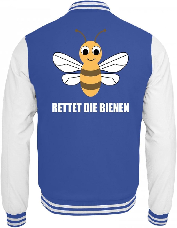 Shirtee Hochwertige College Sweatjacke - - - Rettet die Bienen B079WDGJRS  Tadellos 562d92