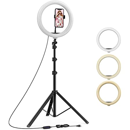 """upReale Professional 10"""" inch LED Ring Light with 7 Ft Tripod Stand Combo 