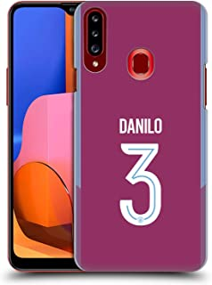 Official Manchester City Man City FC Danilo 2017/18 Players Away Kit Group 2 Hard Back Case Compatible for Samsung Galaxy A20s (2019)