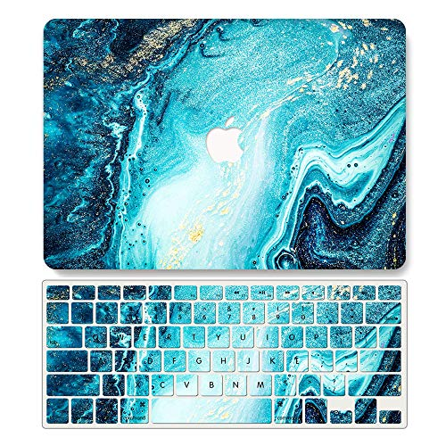 One Micron Case + Keyboard Cover Compatible with Old MacBook Pro 13 Inch, Plastic Pattern Hard Case Shell Compatible MacBook Pro 13.3 Inch (Model: A1278, with CD-ROM)-Ocean Blue Marble