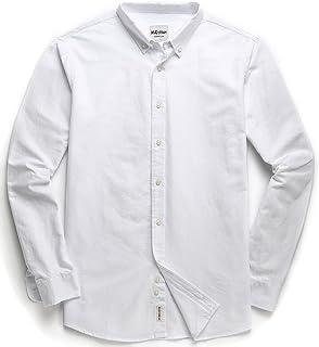 قميص أكسفورد كاجوال بأكمام طويلة بأزرار للأسفل للرجال