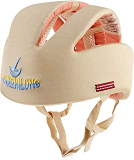 Dolity Baby Adjustable Safety Helmet Children Headguard Toddler Protective Harnesses Cap - Beige Style #A