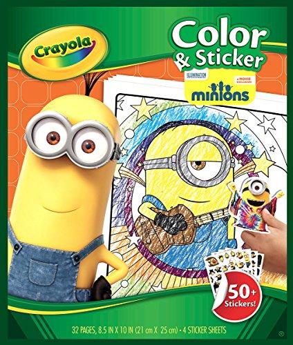 CRAYOLA - Libro de Colorear y Pegatinas, diseño Minions (04-5857)