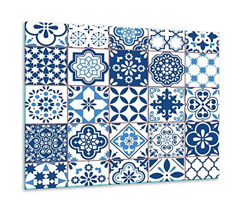 TMK - Placa protectora de vitrocerámica 60 x 52 cm 1 pieza cocina eléctrica universal para inducción protección contra salpicaduras tabla de cortar de vidrio templado como decoración Mosaico