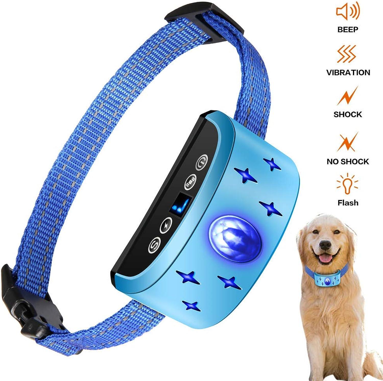 Bark Stopper Vibration Shock Bark Collar LED Dog Beeper Rechargeable Dog Anti Bark Collar