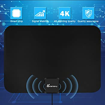 Amplified HD TV Antenna, 2020 Upgraded Digital Indoor HDTV Antenna Up to 120 Mile Range, 4K HD VHF UHF Freeview Telev...