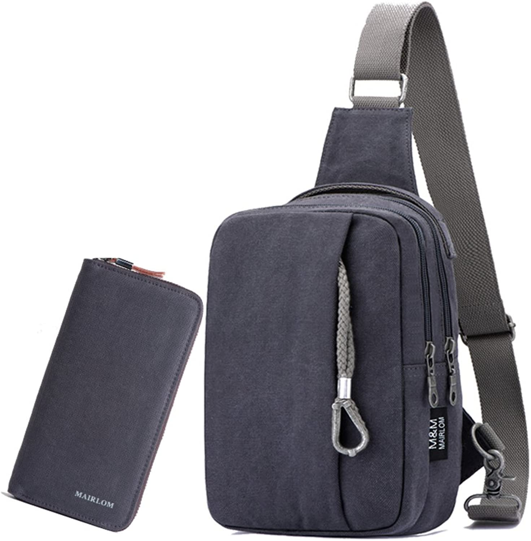 Brust-Tasche-Mann Fashion messengerbags Casual Casual Casual Canvas-Tasche Rucksack Einzigen umhängetasche Im freien-K B07F7T59H3  Personalisierungstrend b3fda2