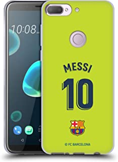 Official FC Barcelona Lionel Messi 2018/19 Players Away Kit Group 1 Soft Gel Case Compatible for HTC Desire 12 Plus