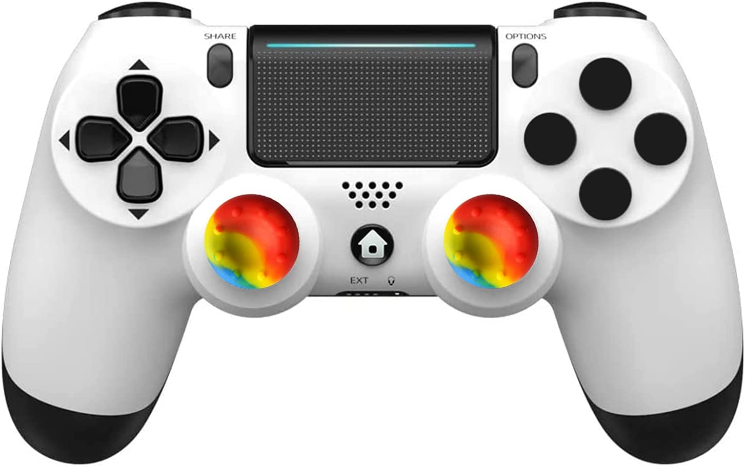 Wireless Controller for PS-4, Game Joystick for PS-4 Controller, with Dual Vibration/Audio Jack/Touch Pad/Six-axis Motion Control, for PS-4/Slim/Pro Console
