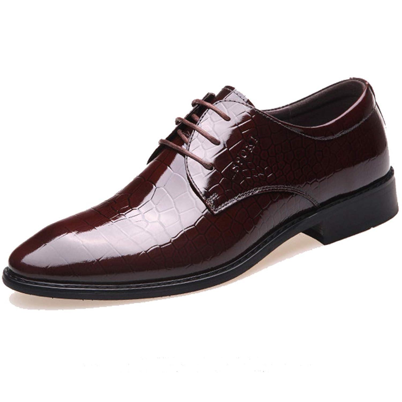 [ロムリゲン] ビジネスシューズ 紳士靴 革靴 メンズ レザー 外羽根 通気性 消臭 衝撃吸収 軽量