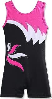 Leotard for Girls Gymnastics Toddler Tank Biketards Shorts Shiny Scale Diamond Kids Dancewear