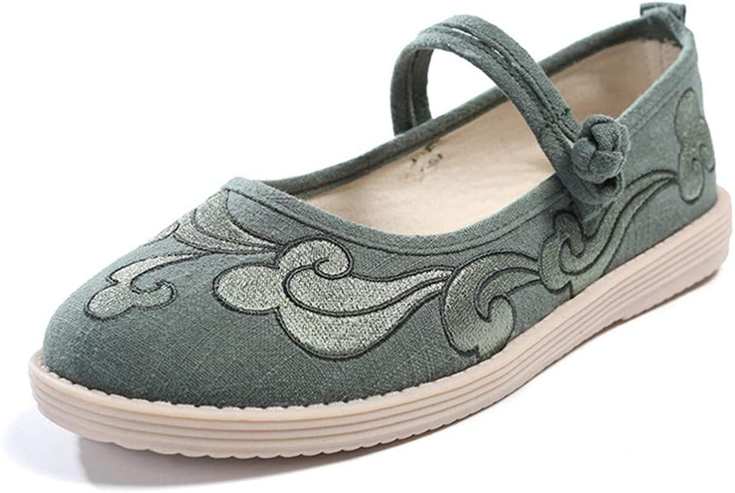 Cloth shoes, Ribbed Sole Embroidered shoes, Dancing shoes, Women's shoes-YU&Xin