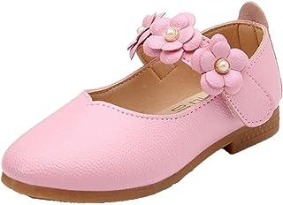 WUIWUIYU Filles Ballerines Chaussures de Princesse étudiants Marche Simple Léger Confortable