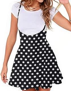 YOINS Women's Suspender Skirts Basic High Waist Versatile Flared Skater Skirts