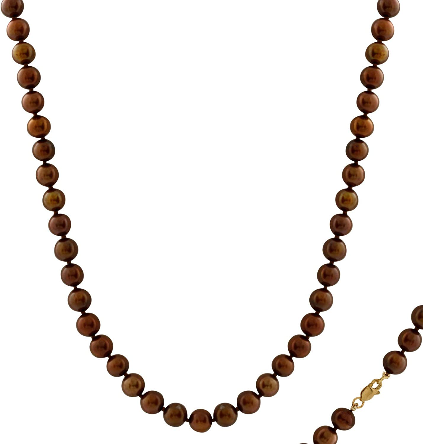 Handpicked AA Quality 7-7.5mm Chocolate Freshwater Cultured Pearl Strand 18