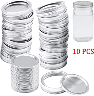 Chef Vinny 10 Pack Canning Lids Regular Mouth Mason Jar Lids And Bands Lids For Mason Jar Wide Mouth Split-type Lids Leak ...