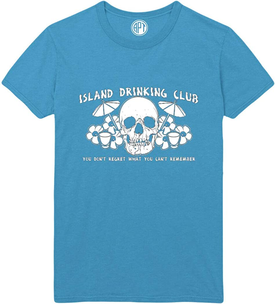 Island Drinking Club Printed T-Shirt