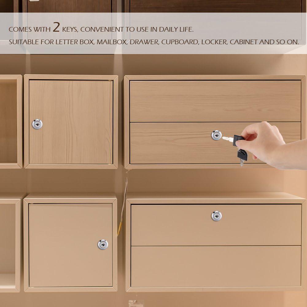 f/ür T/ürschloss Kinberry 20mm Schl/össer Aktenschrank Post Mailbox Schublade Schrank Schlie/ßfach 2 Schl/üssel Schrank usw Briefkastenschloss