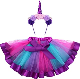 FENICAL Disfraz de Unicornio para Niñas Diadema Unicornio