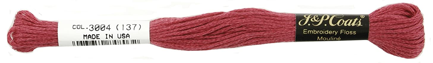 Coats Crochet 6-Strand Embroidery Floss, Very Dark Dusty Rose, 24-Pack