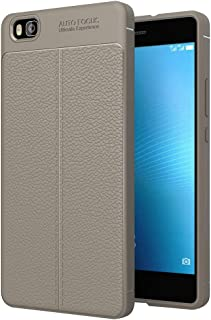 ESYI AYSMG For Huawei P8 Lite Litchi Texture TPU Protective Back Cover Case(Black) (Color : Grey)