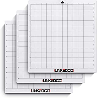LinkedGo Standard-Grip Adhesive Cameo Cutting Mat for Cricut, Silhouette Electronic Die Cutting Machine 12 by 12-Inch (3 Pack)