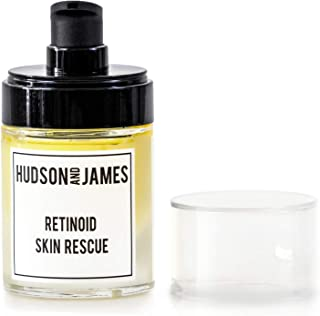 Hudson and James 5% Organic Retinoid Skin Rescue Serum, 30ml Glass Bottle | + Hyaluronic, Vitamins A,B+C,CoQ10, and plant ...