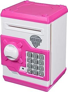 Qwifyu Kids Piggy Bank, Money Bank with Electronic Lock Auto Scroll Paper Money &..