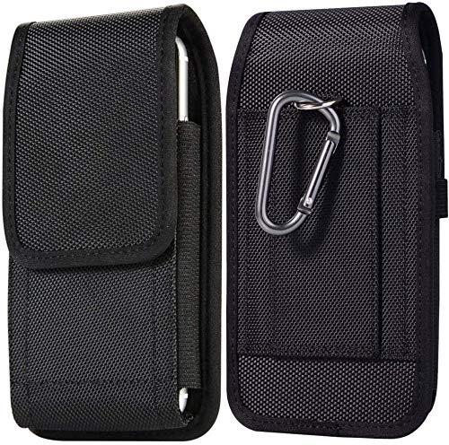 Suhctup Funda iPhone 11 Pro MAX Bolsas de Cuero con Clip de Cinturón,Funda Universal para teléfonos Inteligentes de 6.5 Pulgadas,(para 6.5' Smartphone) Textil, Pinza de cinturón, Lazo para cinturón