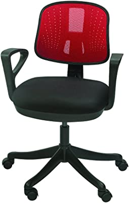 Mavi Attractive Red Mesh Low Back Chair