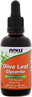 Now Foods Olive Leaf Extract, 2 OZ 18% STD GLYCERITE (Pack of 4)