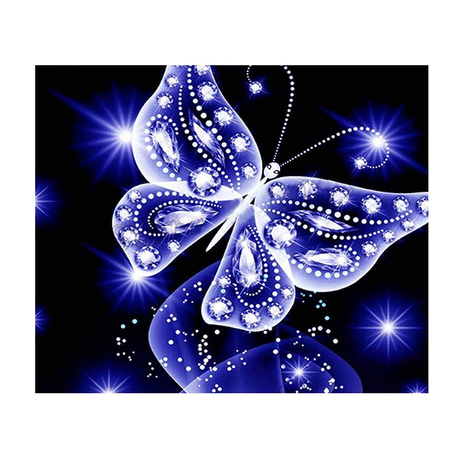 DIY 5D Diamond Painting by Number Kits, Crystal Rhinestone Full Diamond Embroidery Pictures Arts Craft for Home Wall Decor (Pattern A)