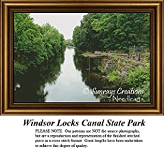 New England States Cross Stitch Patterns | Windsor Locks Canal State Park (Pattern Only, You Provide the Floss and Fabric)